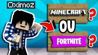 YOU PREFER FORTNITE OR MINECRAFT? A SUBSCRIBER MADE ME A MAP!