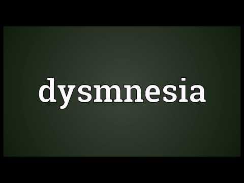Header of dysmnesia