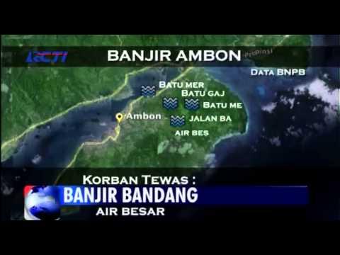 Ambon Diterjang Banjir, 9 Tewas
