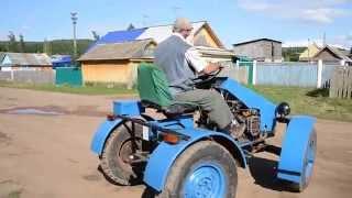 Тест драйв 2 самодельного мини трактора 4X4 модель 3