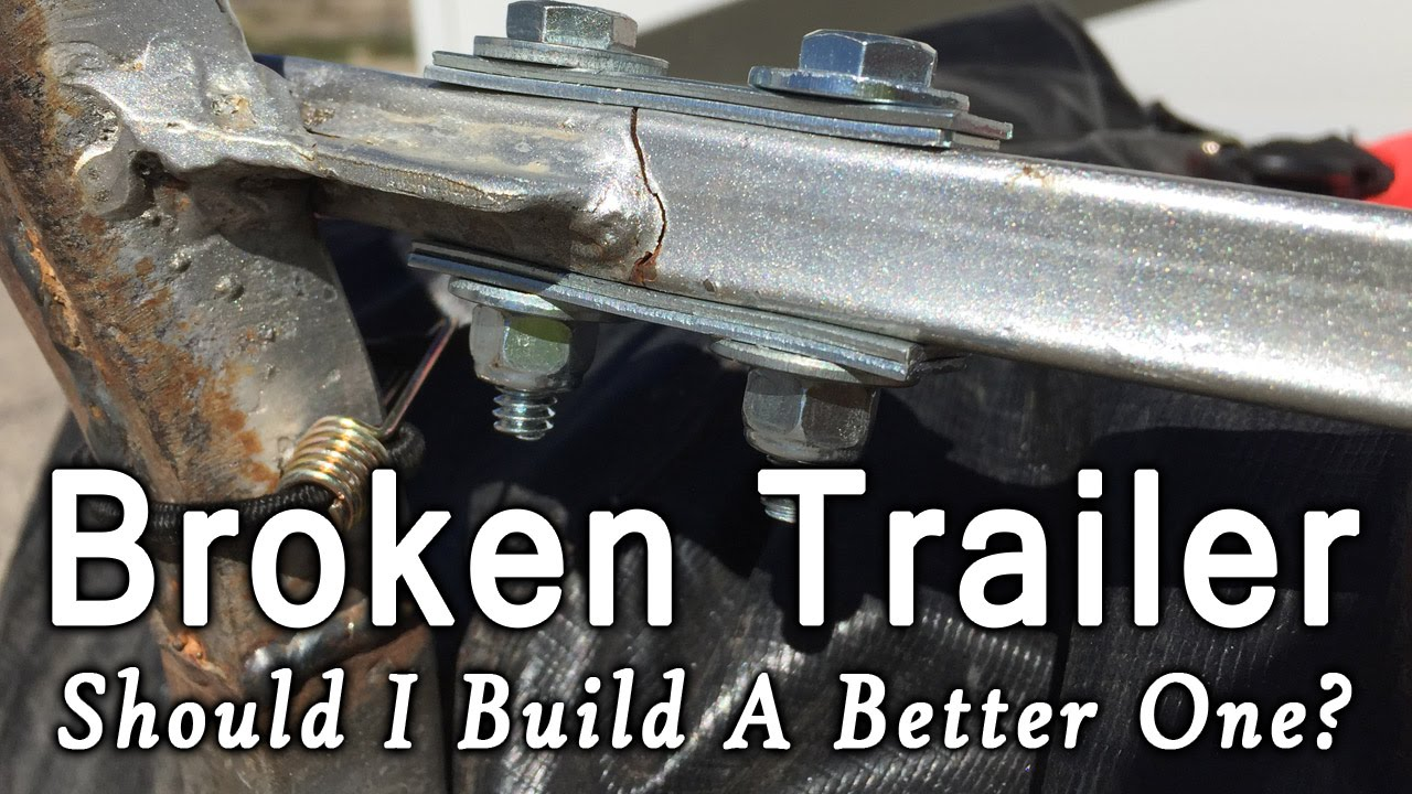 broken trailer frame should i build a better single wheel bicycle trailer
