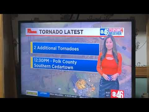 Jennifer Valdez Puts On Disco Blouse And Leather Skirt To Talk Tornado Weather In Atlanta On CBS 46