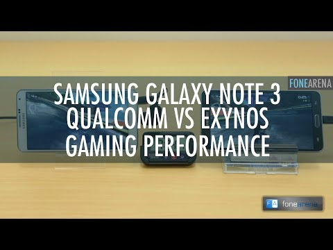 Samsung Galaxy Note 3 Snapdragon 800 vs Exynos 5420 Gaming Performance