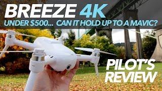YUNEEC BREEZE 4K - FULL REVIEW - $500 DJI Mavic Alternative