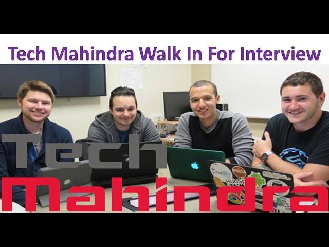 Tech Mahindra Walkin Interviews   Freshers   HR Executive