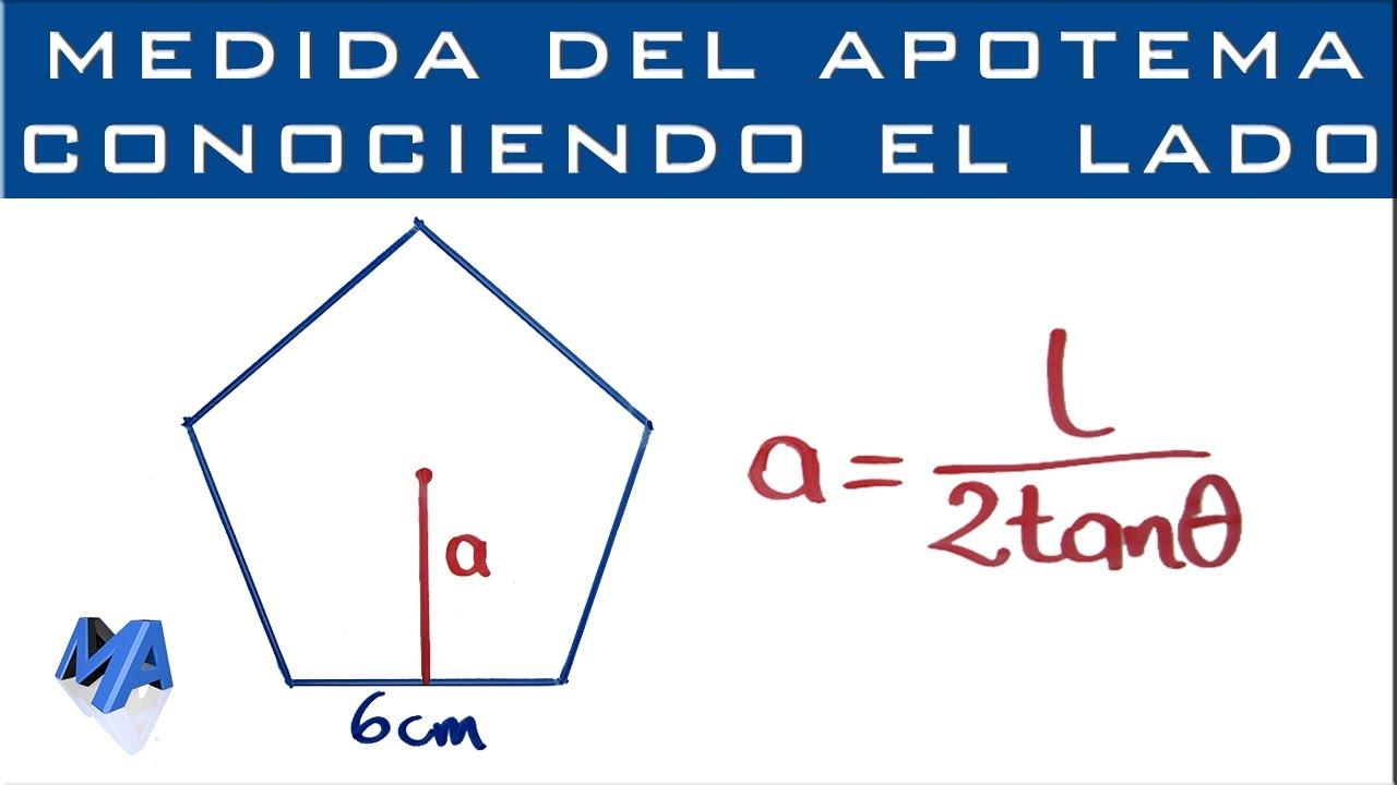 Image result for como se saca el apotema de un polígono regular