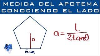 Apotema de un polígono regular conociendo la medida del lado