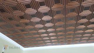 Ceiling Tile 259 Antique Copper by Talissa Decor - Shop Decorative Ceiling Tiles Online