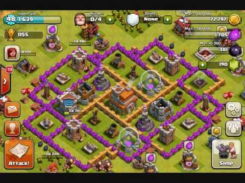 Clash of clans town hall lvl 7 best trophies defense youtube