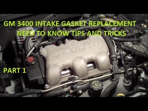 How To Replace Intake Gasket GM 3400 V6 Tips and Tricks - YouTube