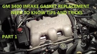 How To Replace Intake Gasket GM 3400 V6 Tips and Tricks