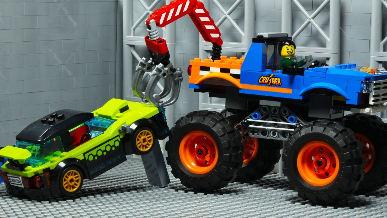 Monster Truck Car Robbery LEGO City Animation