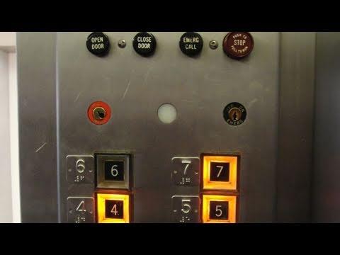 Vintage Otis Traction Elevator @ Highland Hospital Rochester NY (Blue Bank)