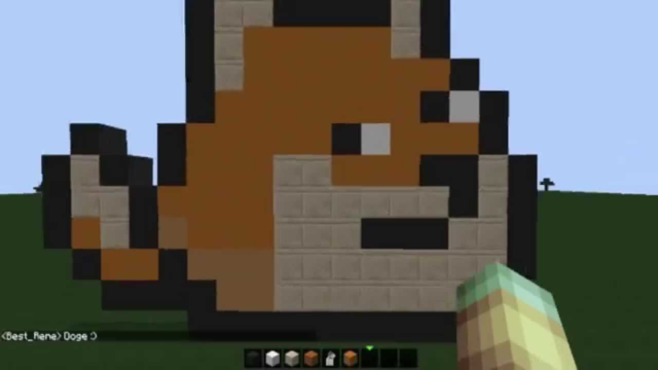 MineCraft Speed Pixel Art 8 Bits Doge YouTube