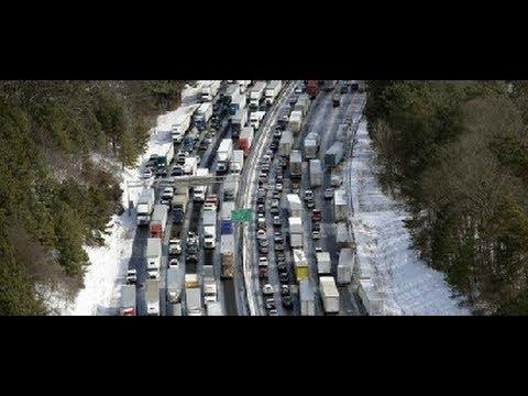 US snow storm: Atlanta traffic chaos