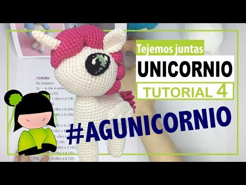 Unicornio amigurumi 4 | hoy terminamos el primer trocito de cabellera | TEJEMOS JUNTAS?