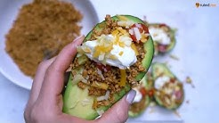 Keto Recipe - Vegetarian Taco Stuffed Avocados