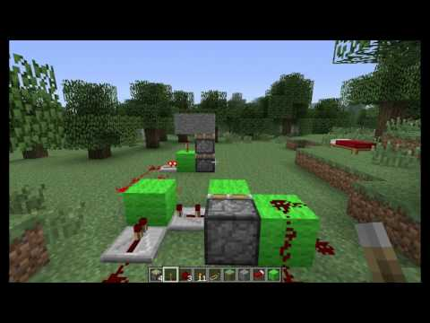 Minecraft Tutorial: Vertical Double Piston Extender (Expandable)