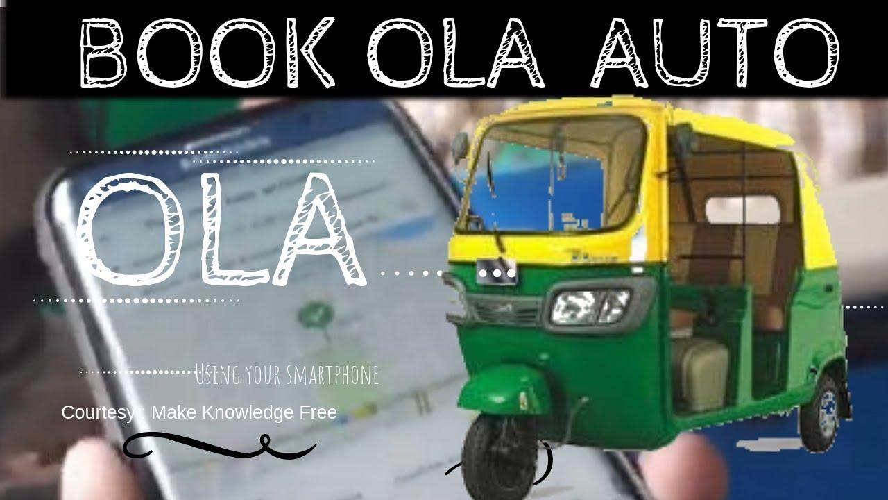 HOW TO BOOK OLA AUTO | OLA AUTO