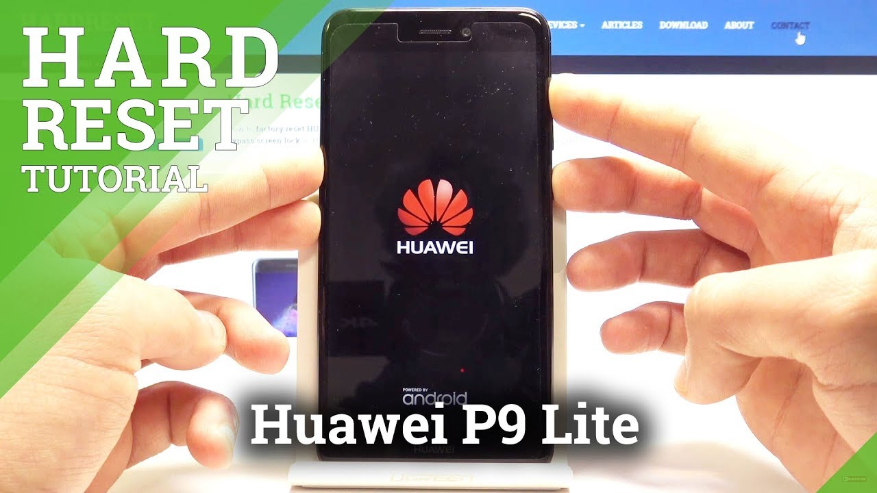 Hard Reset Huawei P9 Lite Factory Data Reset Screen Lock Removal Youtube