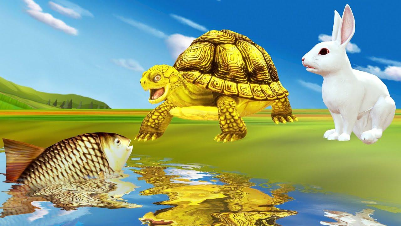 जादुई तालाब और सुनहरा कछुवा Magical Pond Golden Tortoise हिंदी कहनिया Hindi Kahaniya Moral Stories