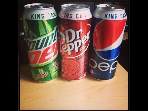 """☺Pepsi-Mountain Dew-Dr Pepper """"King Cans""""☺-July 3rd 2014"""