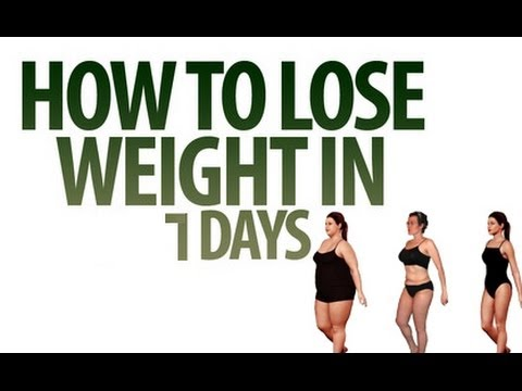 How to lose weight fast and safely (5 to 8 Kgs in 7Days ...