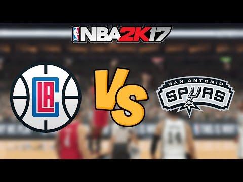 NBA 2K17 - Los Angeles Clippers vs. San Antonio Spurs - Full Gameplay