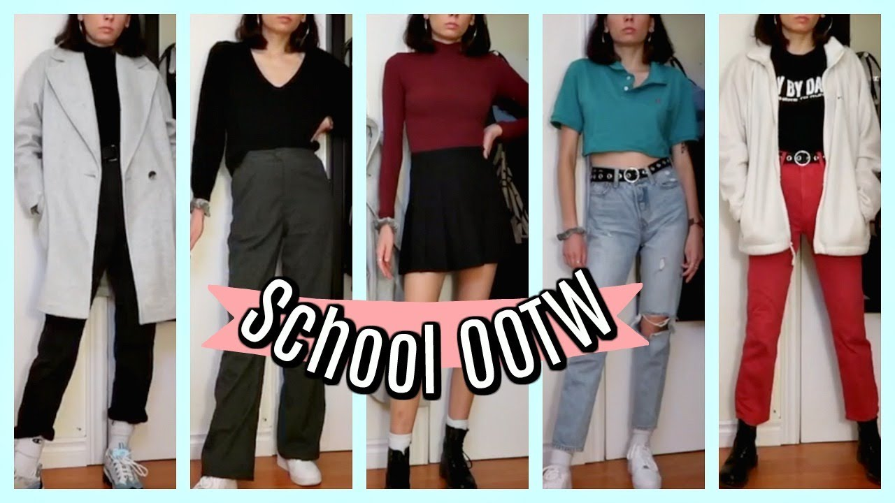 [VIDEO] - Realistic School Outfits of the Week (outfit inspo) 2