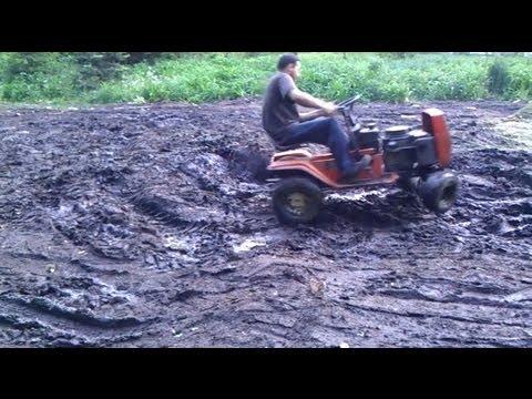 Extreme Lawn Mower Mudding Carlisle Super Lug Tire Youtube