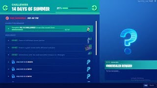 FORTNITE 14 DAYS OF SUMMER DAY 4 CHALLENGE! NEW FREE ITEMS!