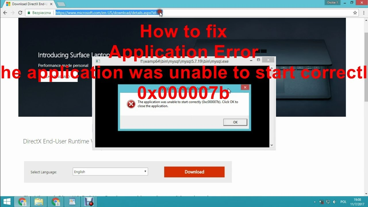 How To Fix Application Error The Application Was Unable To Start