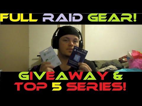 Destiny - Full Raid Gear, Giveaway Cards, & Top 5 Series!