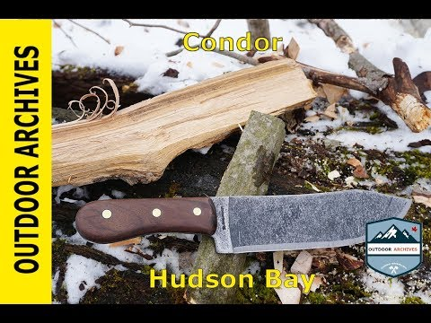 Camp Knife or Horror Movie Cleaver? Condor Hudson Bay Camp Knife.