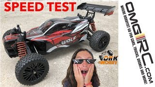 STOCK DHK Hobby WOLF 2 SPEED RUN TEST (Stock battery up to 3s LIPO)