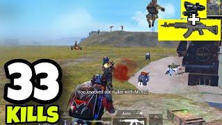 M762 + 4X SCOPE INSANE SPRAY!!! | 9 SQUAD VS RUPPO | PUBG  MOBILE