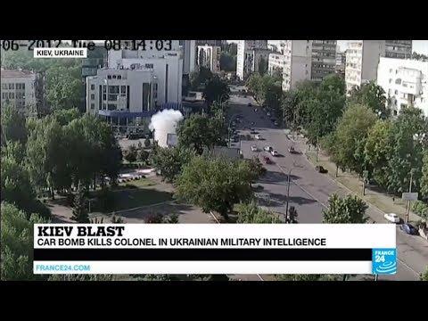 Ukraine: Car bomb kills military intelligence colonel in Kiev
