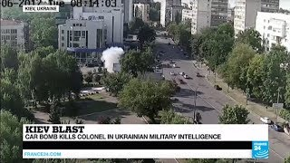 Ukraine: Car bomb kills military intelligence colonel in Kiev