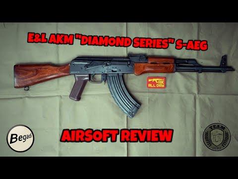 """[REVIEW] E&L Emei Landarms AKM AK47 S-AEG """"Diamond Series"""" Airsoft Test/Review Deutsch/german"""