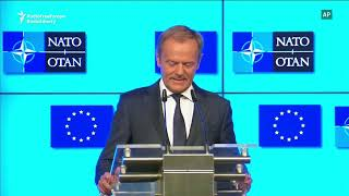 Tusk To Trump: 'Appreciate Your Allies'