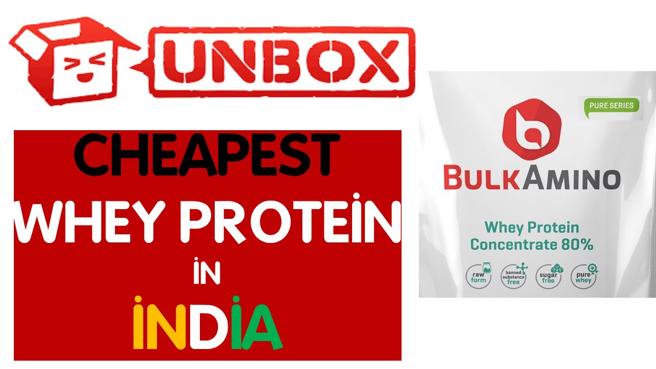 Unboxing the cheapest whey protein in India Bulk Amino First Look ...