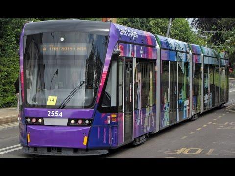 Trams & Buses @ Lebanon Road stop, Croydon, London, U.K.