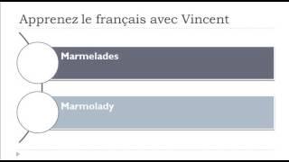 Nauka francuskiego = Marmolady