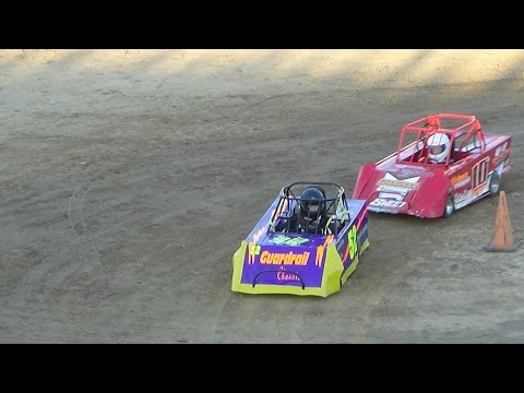 Mini wedge heat race at Crystal Motor Speedway on 09-04-16.