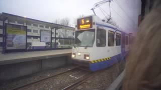 Netherlands, Amsterdam, tram 5 ride from Amstelveen Stadshart to Van Boshuizenstraat
