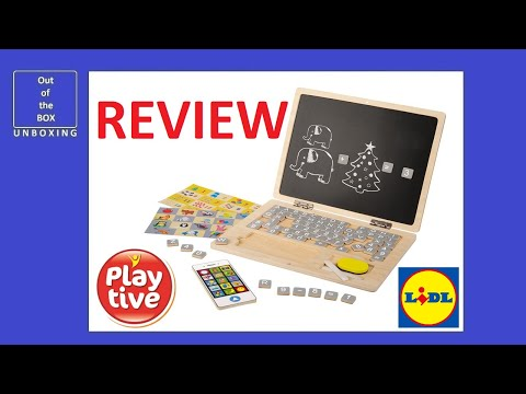 Playtive Toy Laptop Junior Wooden Educational Toy Review Test Lidl 85 Items 78 Magnetic Youtube