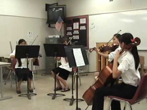 "Quartet at CMEA by Tevis Junior High School Performers - ""March Militaire by Franz Schubert"""