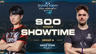 soO vs ShoWTimE ZvP - Group A Decider - 2019 WCS Global Finals - StarCraft II