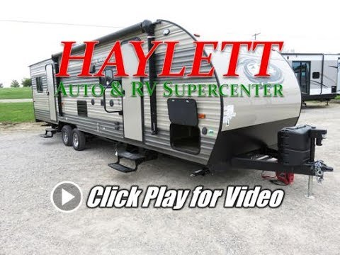 HaylettRV - 2018 Grey Wolf 27RR Private Garage Half Ton Towable Toy Hauler with Slide OUt