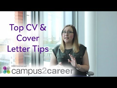 Top CV and Cover Letter Tips from NBCUniversal - in 5 minutes!